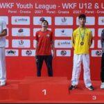 Bastián Arce ganó medalla de oro en fecha croata de la Karate Youth League