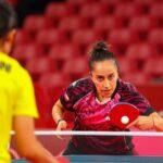 Paulina Vega se despidió de Tokio 2020 en la segunda ronda del tenis de mesa