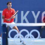 Tomás Barrios cayó luchando en la primera ronda del tenis en Tokio 2020